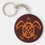 Orange Turtle Keychain