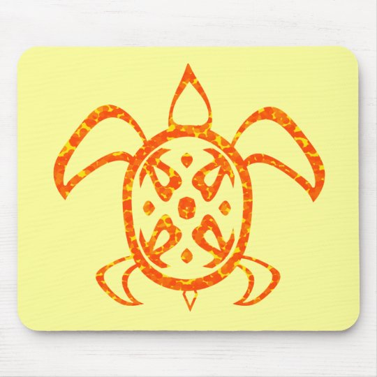 Orange Turtle Mousepad