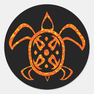 Orange Turtle Stickers
