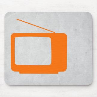 Orange TV Mouse Pad