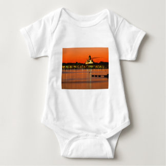 Orange Twilight, Helsinki, Finland Baby Bodysuit