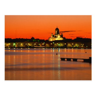 Orange Twilight, Helsinki, Finland Postcard