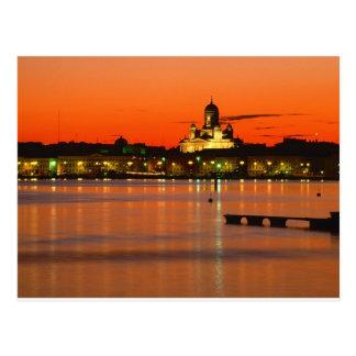 Orange Twilight, Helsinki, Finland Postcard