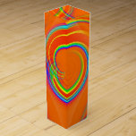 Orange Twirl Wine Gift Box