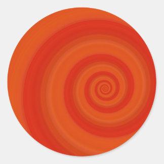 Orange Twist Round Stickers