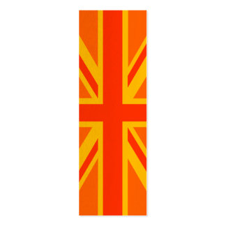 Orange Union Jack British Flag Swag Business Card Template