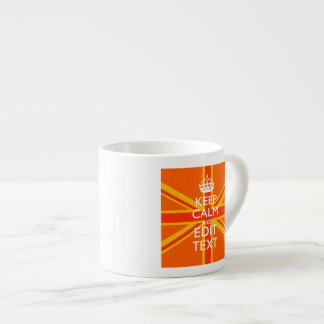 Orange Union Jack British Flag Swag Espresso Cup