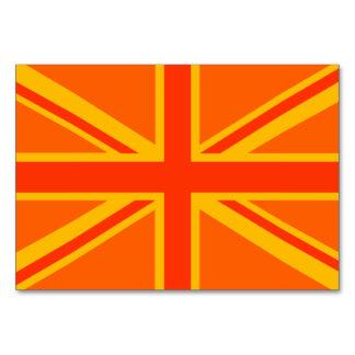 Orange Union Jack British Flag Swag Table Card