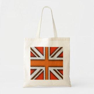 Orange Union Jack Budget Tote Bag