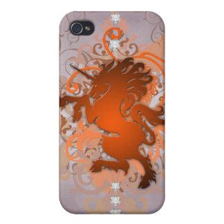 Orange Urban Fantasy Faux Unicorn 4g I Cases For iPhone 4