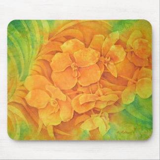 Orange Vanda Mouse Pad