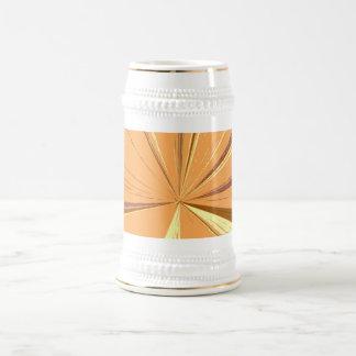 Orange Vanishing Point Beer Stein 18 Oz Beer Stein