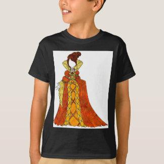 Orange Velvet and Pearls Gown
