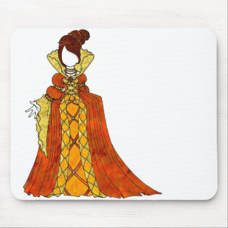 Orange Velvet and Pearls Gown Mouse Pad