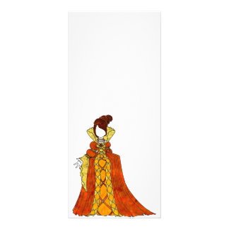 Orange Velvet and Pearls Gown Rack Card
