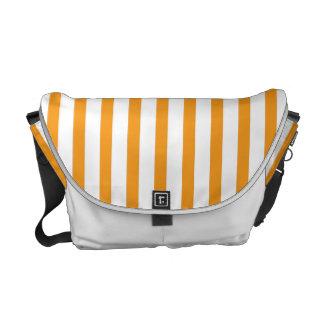 Orange Vertical Stripes Messenger Bag