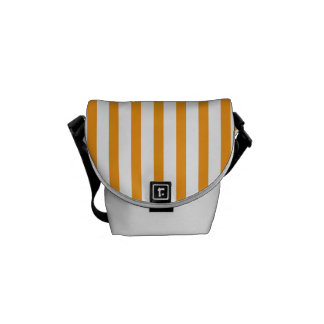 Orange Vertical Stripes Courier Bag