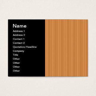 Orange Vertical Stripes Pattern Business Card