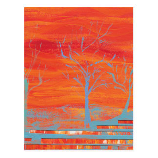 Orange Vibration Postcard