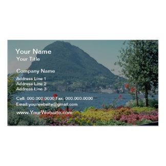 Orange Views of public gardens, Lugano, Switzerlan Business Cards