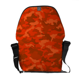 Orange Vintage Army Military Camo Camouflage Messenger Bag