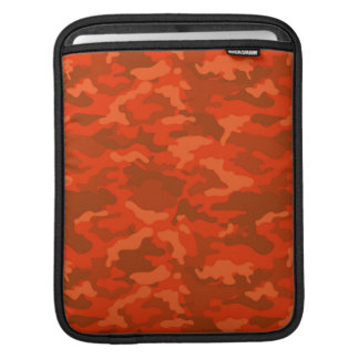 Orange Vintage Army Military Camo Camouflage Sleeve For iPads