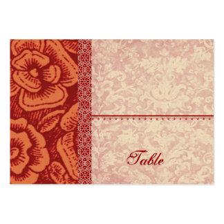 ORANGE Vintage Flowers Place Card Wedding V17 Large Business Cards (Pack Of 100)