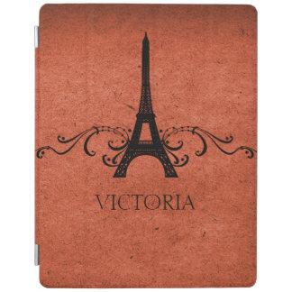 Orange Vintage French Flourish iPad Cover