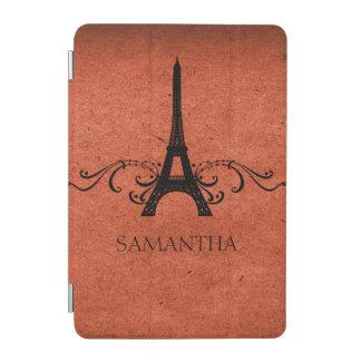 Orange Vintage French Flourish iPad Mini Cover