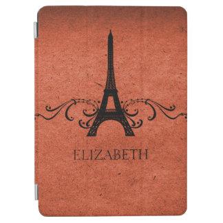Orange Vintage French Flourish iPad Air Cover