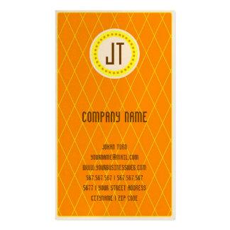 Orange Vintage Gambler Cowboy Business Card