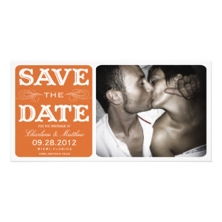 ORANGE VINTAGE  | SAVE THE DATE ANNOUNCEMENT