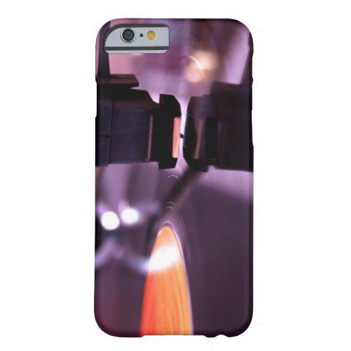 Orange Vinyl Record with cool purple background iPhone 6 Case