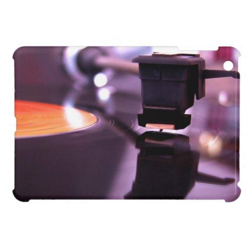 Orange Vinyl Record with cool purple background iPad Mini Case