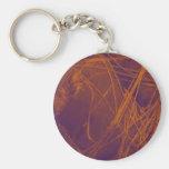 orange violet fabric keychains