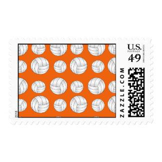 Orange volleyballs pattern stamp