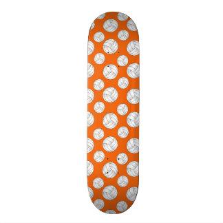 Orange volleyballs pattern skate board decks