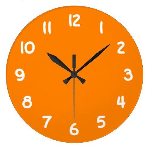 Orange Wall Clock Zazzle