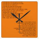 Orange Wall Clock Poets Choice