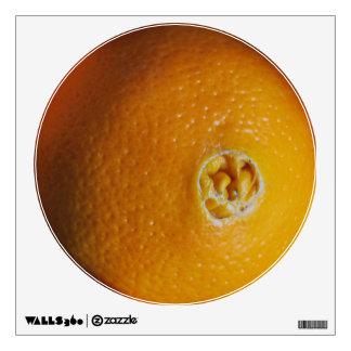 Orange wall decal