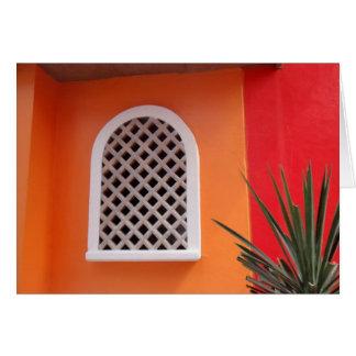Orange Wall Mexico Card