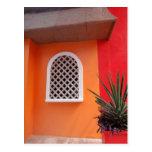 Orange Wall Mexico Postcard