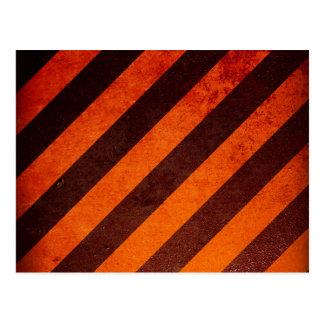 Orange warning postcard