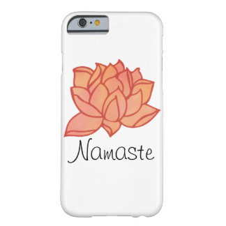 Orange Water Color Lotus Namaste Case