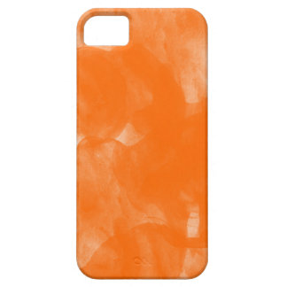 orange water color paint iphone case