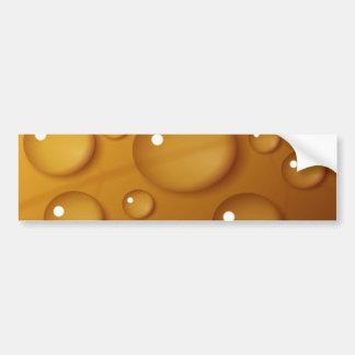 Orange Water Drop Texture Bumper Sticker