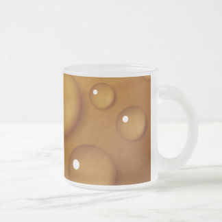 Orange Water Drop Texture Frosted Glass Coffee Mug