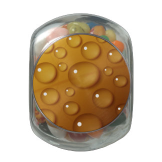 Orange Water Drop Texture Glass Candy Jars