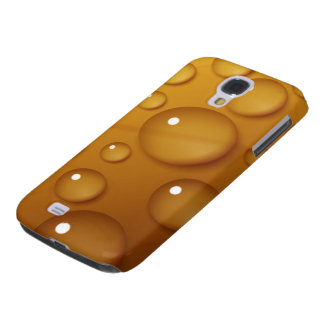 Orange Water Drop Texture Samsung S4 Case