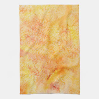 Orange Watercolor Background Hand Towels